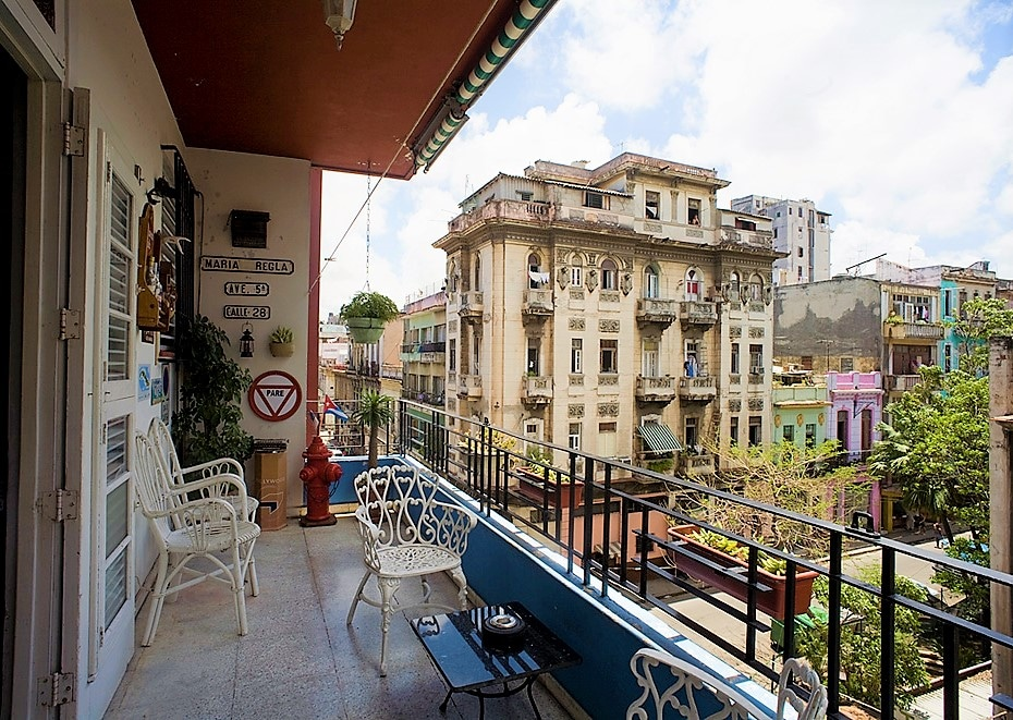Balcony view from our Casa Roseland in Centro Habana
