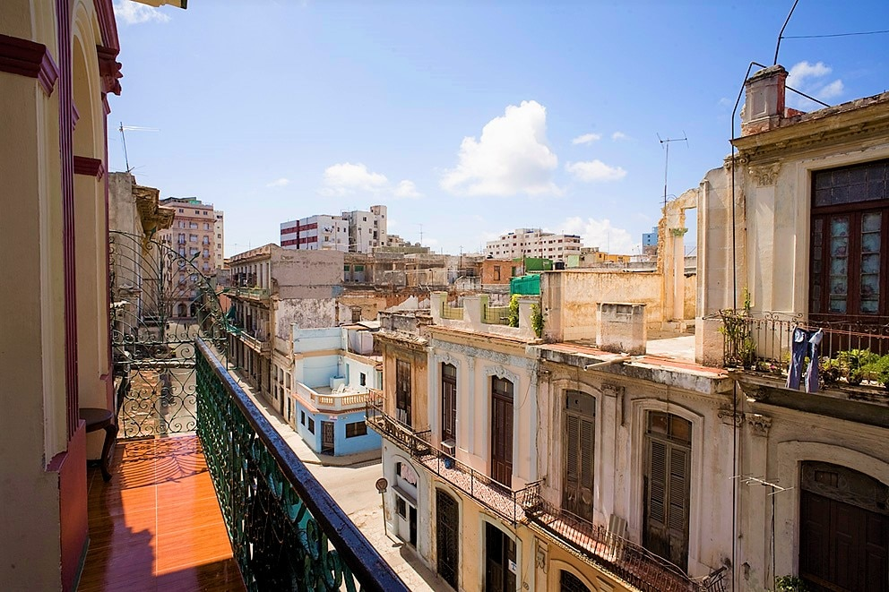View of Centro Habana from the balcony of Casa Colonial Silda