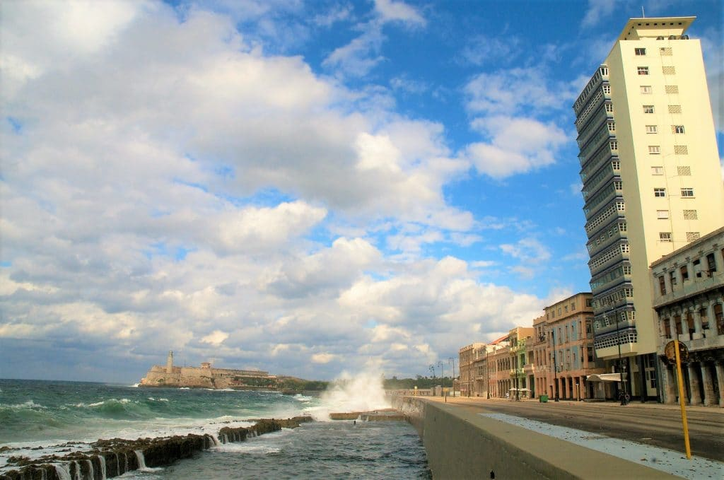 A view of Havana's Malecon