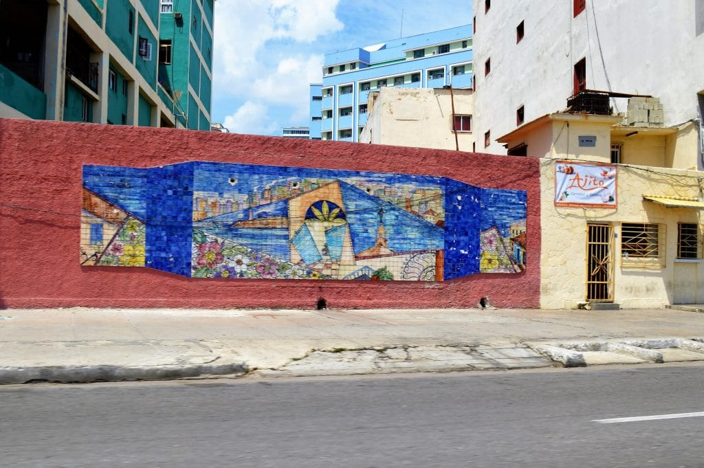 Mural art in the streets of Havana