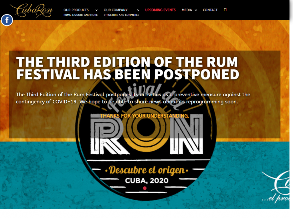 Cuban Rum Festival postponed